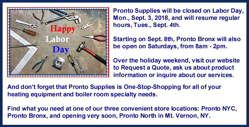 Website News Labor Day 2018 Pronto Gas Heating Supplies